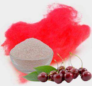 Aromazucker für bunte Zuckerwatte mit Geschmack | Kirsche - Rot 100g | Farbzucker Zucker für Zuckerwatte Zuckerwattemaschine Zuckerwattezucker