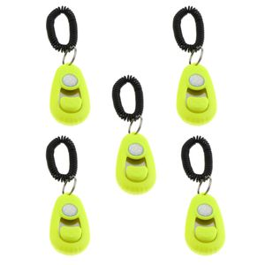 Hundeklicker Clicker mit Handgelenkband für Hundetraining Hundeerziehung Farbe Gelb