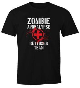 Herren T-Shirt Zombie Apokalypse Rettungsteam Fasching Halloween Verkleidung Horror Fun-Shirt Moonworks®  3XL