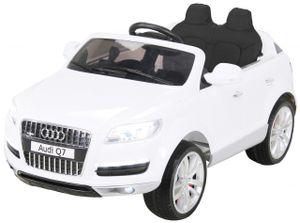 Kinder Elektroauto AUDI Q7 4L Kinderauto Elektrofahrzeug Elektro Spielzeug Auto (Weiß)