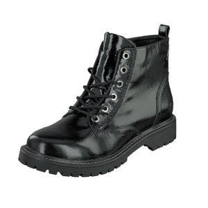 Jane Klain Woman Damen Schuhe Lack Boots Stiefel Schnürer 252-366 Black Lack