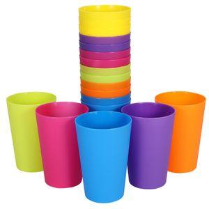18 Plastik Mehrweg Trinkbecher 250ml Mix-Paket Partybecher Plastikbecher Becher