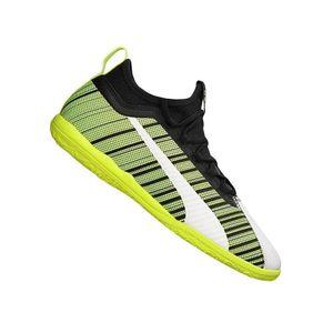 PUMA ONE 5.3 IT Low Boot Fußballschuhe Weiss-Schwarz-Gelb Schuhe, Größe:44 1/2