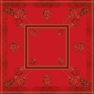 Sovie HOME Tischdecke Tiffany in Rot aus Linclass® Airlaid 80 x 80 cm, 1 Stück - Weihnachten Xmas Mitteldecke