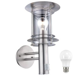 LED Edelstahl Außenleuchte mit Bewegungsmelder