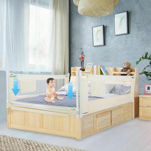 200CM * 68cm Kinderbettgitter Bettschutzgitter Babybett Bettgitter Safety Sicherheitsbettgitter