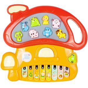 MalPlay Musikspielzeug Pilze   Baby erstes Keyboard   Piano Tier-Keyboard mit Tiergeräusche    Lernspielzeug für Kinder ab 3 Jahren   Jungen und Mädchen