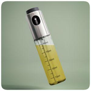 PRECORN Ölsprüher Flasche 100 ml Sprühflasche Ölspender Transparent Ölspray für Kochen Salat BBQ Pasta