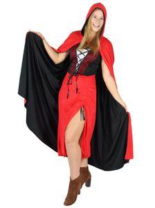 Rotkäppchen Halloween Kostüm für Damen, Größe:XXL