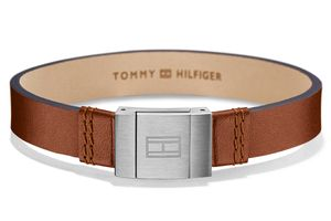Tommy Hilfiger 2700949 Herren Leder-Armband Casual Braun
