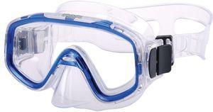 AQUAZON FUN Junior Kids Schnorchelbrille, Taucherbrille, Schwimmbrille, Tauchmaske für Kinder,  von 3-7 Jahren,  sehr robust, tolle Passform, Farbe:blau transparent