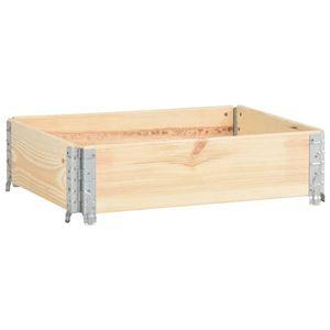 Holzaufsatzrahmen |Paletten-Aufsatzrahmen 60×80 cm Kiefer Massivholz