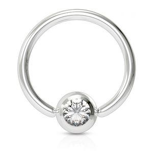 viva-adorno 1,6x12x5mm Universal Piercing Ring BCR Kristall Lippenring Klemmring Septumpiercing Brustpiercing Chirurgenstahl Z507,klar