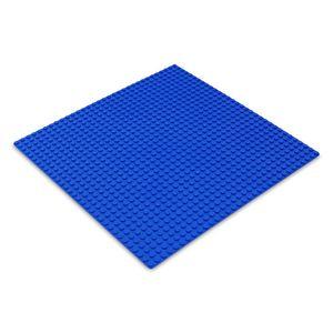Platte 25,5cm x 25,5cm / 32x32 Pins, Große Grund- Bauplatte für Lego, Q-Bricks, MY, Sluban kompatibel, Grund-Platte, Blau für Meer, Wasser, See