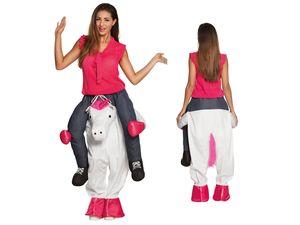 Lustiges Step-In Huckepack Einhorn Kostüm