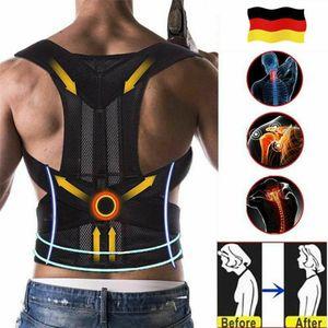 Rückenbandage Rückenhalter Haltungskorrektur Gürtel Rücken Stabilisator Büste Umfang 90-105cm Größe M