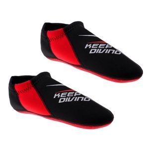 3mm Neopren Socken Schnorcheln Wassersport Schwimmen Tauchen Surfen - Rot, XS Farbe XS Rot