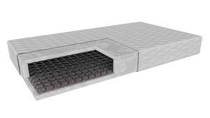 Sprungfedermatratze Ferrara  (90x200cm) H3 mittelhart,  Bonnell Matratze mit  Polyurethanschaum im antiallergische Abdeckung