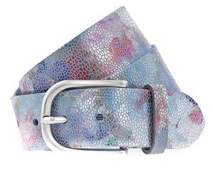 Vanzetti Bouquet of Flowers 40mm Metallic Leather Belt W80 Violet Mix