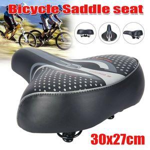Komfort Extra breiter Big Bum Fahrrad Fahrrad Gel Soft Pad Sattelsitz Sportlich Schwarz RRX200618113