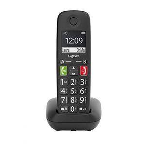 Gigaset E290 Duo 2 schnurlose-/ DECT-/ Analoge Telefone (ohne Anrufbeantworter, mit großen Tasten und großem Display) schwarz