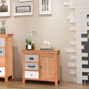 【Neu】Kommoden Sideboard 65×35×60 cm BEST SELLER- Massivholz Eukalyptus Gesamtgröße:65 x 35 x 60 cm BEST SELLER-Möbel-Schränke-Sideboards im Landhaus-Stil