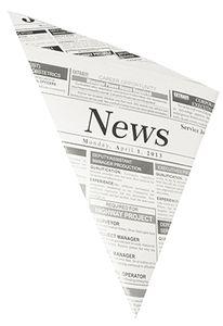 """PAPSTAR Spitztüte """"Newsprint"""" 270 x 190 x 190 mm"""