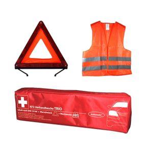 Gramm Actiomedic Car Safety KFZ-Verbandtasche TRIO DIN 13164:2014 - inkl. Warndreieck und Warnweste