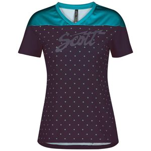 Scott Fahrradshirt Damen Trail Flow s/sl breeze blue/dark purple M