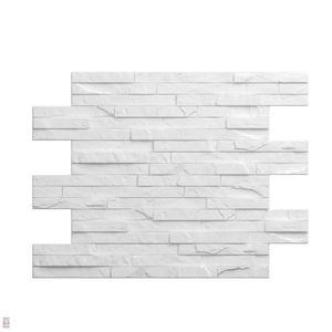 3D Wandpaneele Deckenpaneele Platten Paneele Dekorativer Stein Weiß Styropor EPS (0,265qm) 2cm Dick!