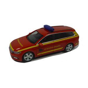 "Herpa 095426 VW Passat Variant ""Feuerwehr Dresden"" rot Maßstab 1:87"