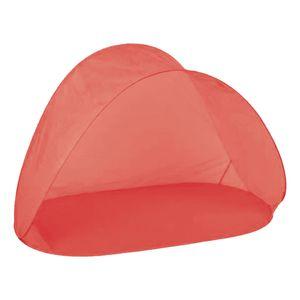 Pop-Up Strandmuschel Strandzelt Sichtschutz Zelt mit Tasche rot H97xB150xT80cm