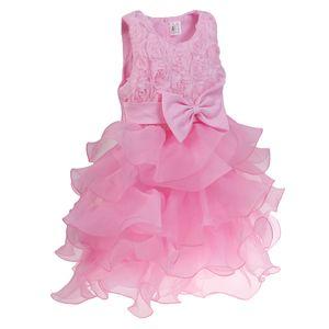 Kinder Mädchen Blume Formale Hochzeit Brautjungfer Party Kleid Prinzessin Tüll Kleider