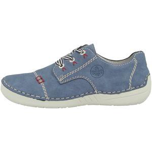 Rieker 52520 Damen Halbschuhe Sneaker Schnürschuhe, Größe:39 EU, Farbe:Blau