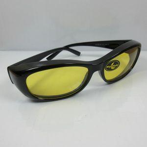 Nachtfahrbrille für Brillenträger Überbrille schwarz Kontrastbrille Night Sight