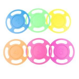 6 Stück Bunte Tauchen Ringe Tauchset Tauchspielzeug Tauchspiel Tauchring Schwimm Spielzeug für Kinder