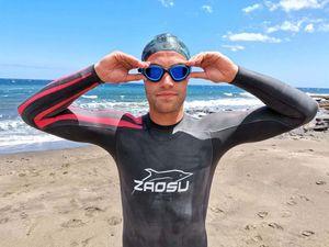 ZAOSU Openwater Neoprenanzug Ray Herren | Triathlon Wetsuit Freiwasserschwimmen, Größe:ML