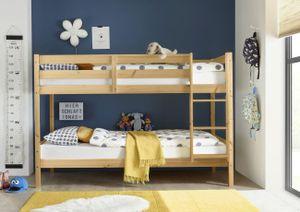 Etagenbett Alain Kiefer massiv natur  teilbar zu 2 Einzelbetten Kinderzimmer Hoch Doppel Stockbett