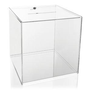 Wahlurne PLEXIGLAS® Abschließbar (30 x 30 x 30 cm), Losbox
