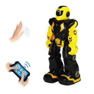 Smart Robot fuer Kinder RC Gestenerkennungsroboter Singen Tanzen Programmierbares Spielzeug Fruehpaedagogik mit Fernbedienung fuer Jungen und Maedchen