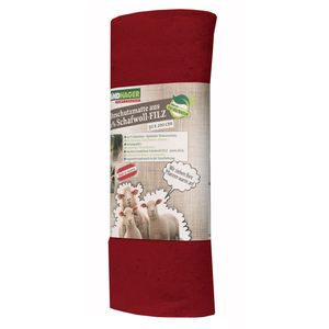 Windhager Filzmatte aus 100% Schafwolle, 2 x 0,5 m, 300 g/m², rot (1 Stück)