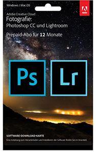 Adobe Creative Cloud Fotografie (Photoshop CC + Lightroom) - 1 Jahreslizenz (Mac/PC)