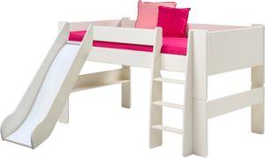 Steens - Steens for Kids Halbhochschlafer mit Rutsche - Material: Mdf - Verarbeitung: Weiss