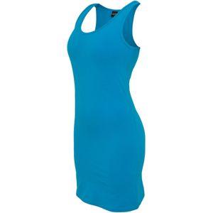 Urban Classics Ladies Sleevless Dress Frauen Stretchkleid Figurbetont, Größe: M; Farbe: Turquoise