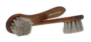 Solitaire Eincremebürste Natur - echtes Rosshaar - Schuhbürste