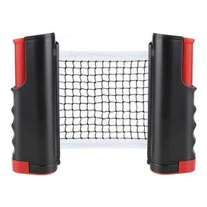 Tischtennis Netze, Justierbarer Einziehbares Netz , Beweglicher Reisehalter - Einstellbare Länge 195(max) x 15cm