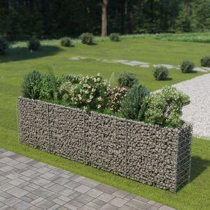 Gabionen-Hochbeet Garten-Hochbeet Hochbeet Verzinkter Stahl 360×50×100 cm