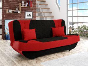 Mirjan24 Sofa Pinto mit Bettkasten und Schlaffunktion, Schlafsofa, Couch vom Hersteller (Alova 04 + Alova 46)