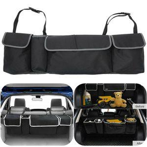 Kofferraumtasche Rücksitz Organizer Auto Tasche Werkzeugtasche Kofferraum Organizer Schwarz