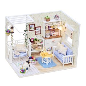 1/24 DIY Miniatur Puppenhaus Kit mit Möbel Modell Kitten Tagebuch Kinder Geschenk